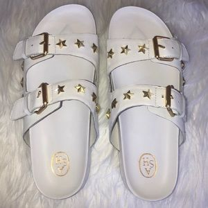 ASH United Star studded slide sandals NWT